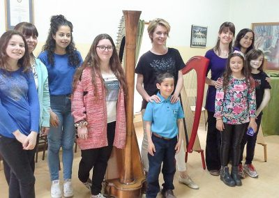 Harp workshop with Catrin Finch - Gaiman Music School 3-1