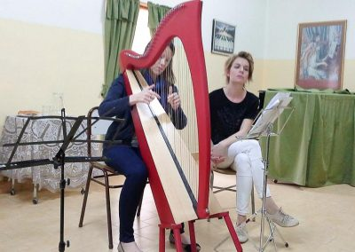 Harp workshop with Catrin Finch - Gaiman Music School 4-2