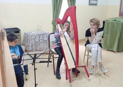 Harp workshop with Catrin Finch - Gaiman Music School-5