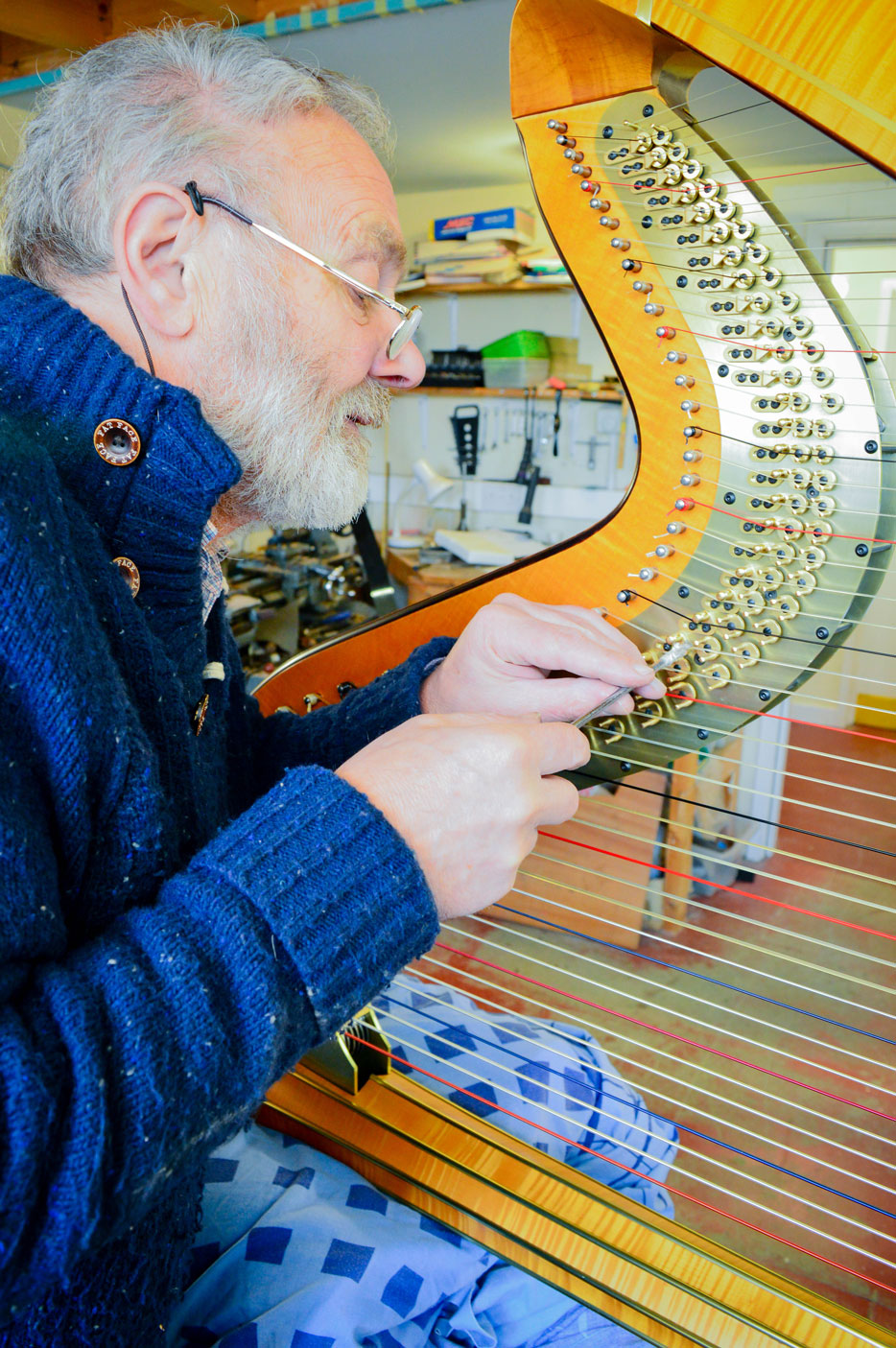 Pedal harp servicing and restoration