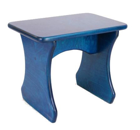 Blue Celtic Lever Harp Stool