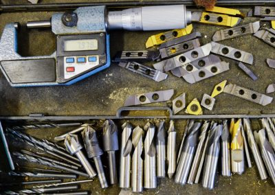 Selection of tools from the machine shop
