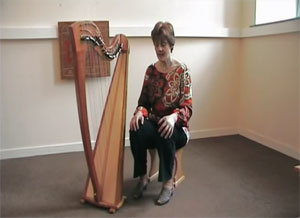 Harpist Eleri Turner shows basic harp techniques