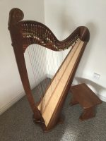 36 String Concert Gauge Celtic Lever Harp in Walnut and Ash