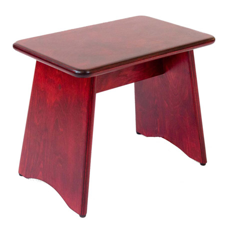 Red Celtic Lever Harp Stool