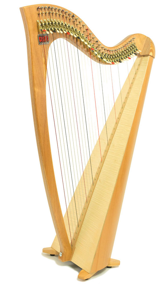 Telynau Teifi 34-string Siff Saff student lever harp in beech