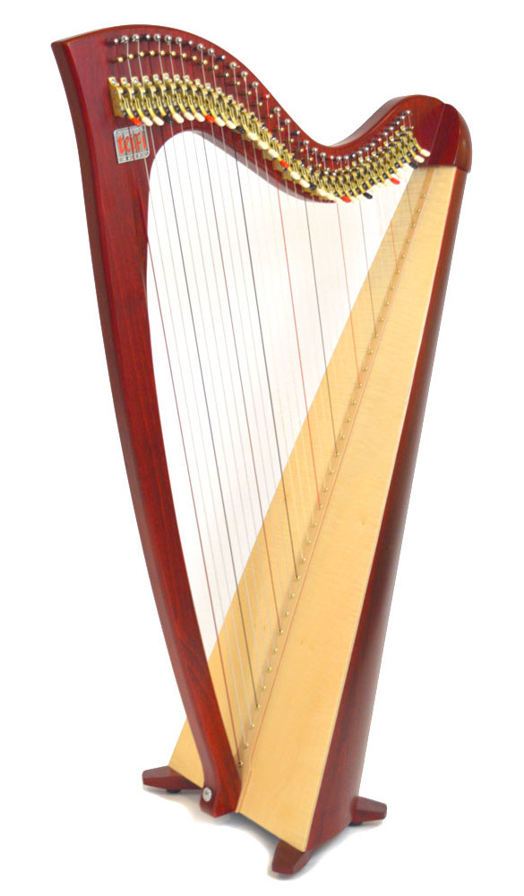 Telynau Teifi 34-string Siff Saff student lever harp in red