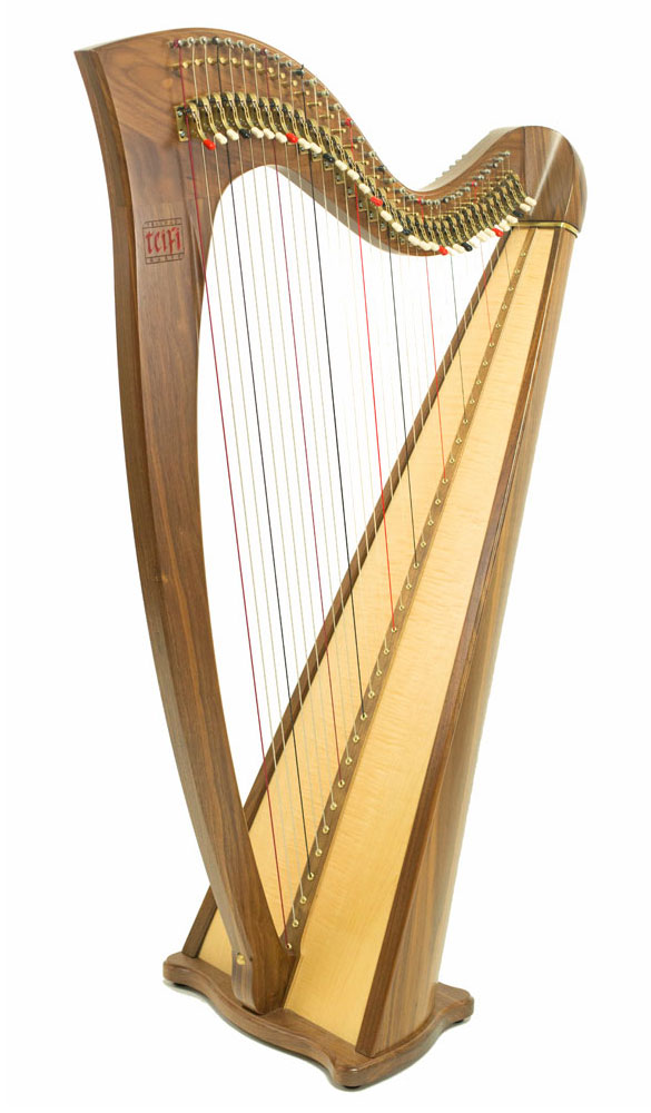 Telynau Teifi 34-string Telor folk lever harp in walnut
