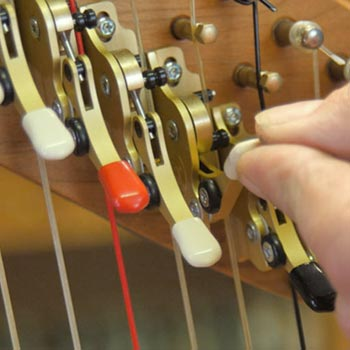 How to tune a harp to the key of E flat major